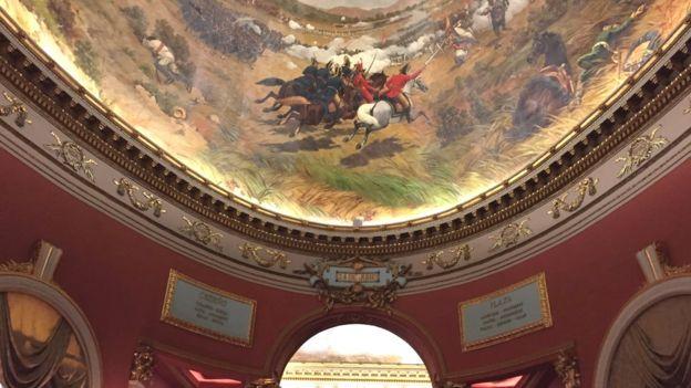Detalle de la pintura de la Batalla de Carabobo