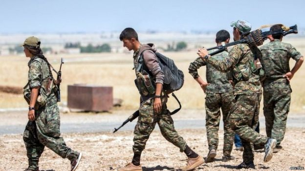 Kurdish YPG fighters in northern Syria, June 2015