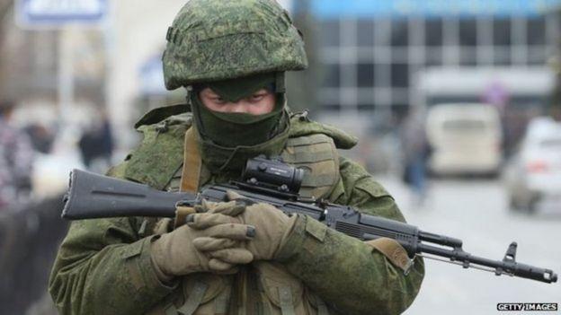 Soldado en la toma de Crimea