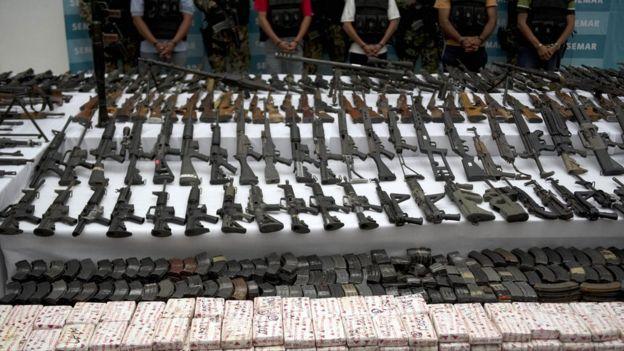 Arsenal incautado a Los Zetas