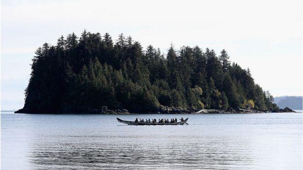 Canoe near Haida Gwaii