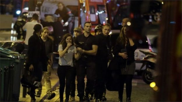 Paris attacks: Dozens dead and hostages held at Bataclan