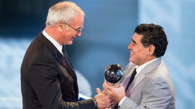 Claudio Rainieri con Maradona
