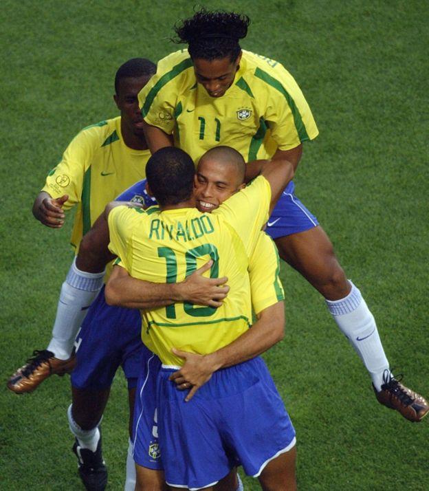 Ronaldinho, Ronaldo y Rivaldo