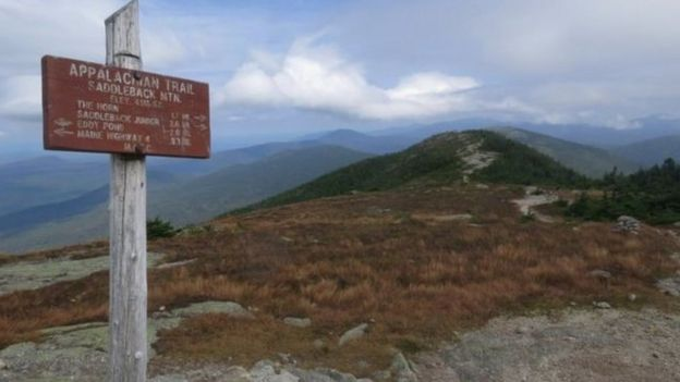 Saddleback mountain on the Appalachian Trail (file photo)