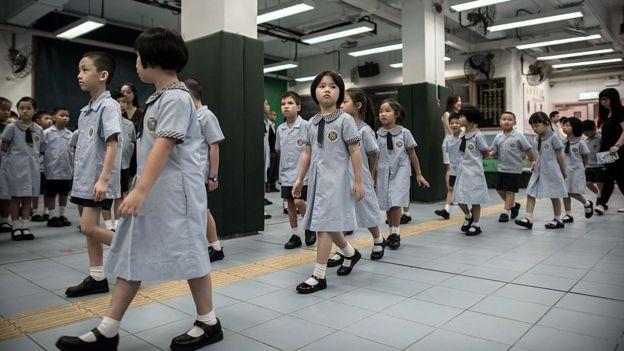 資料圖片:香港小學生