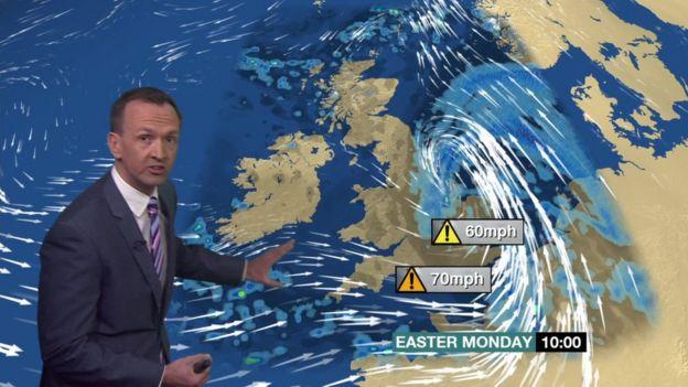 BBC forecaster Nick Miller