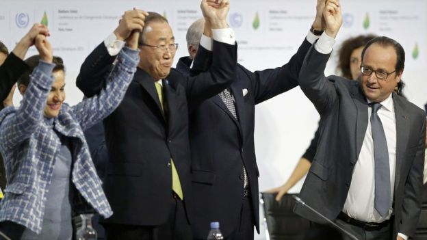 UN Secretary-General Ban Ki-moon and French President Hollande (Image: Reuters)