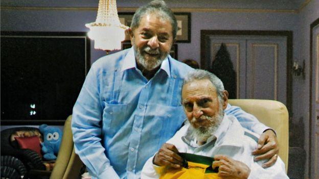 Lula e Fidel Castro