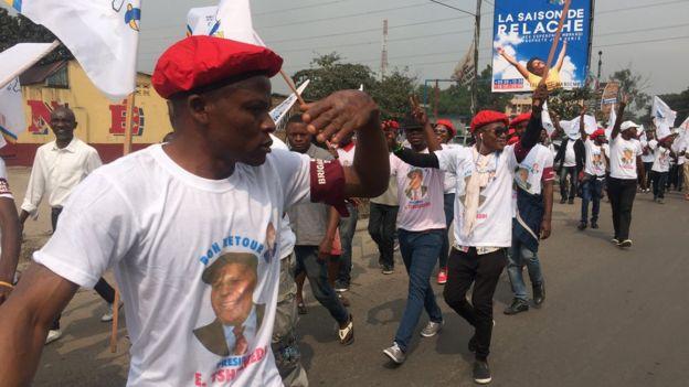 Des militants de l'opposant congolais Etienne Tshisekedi