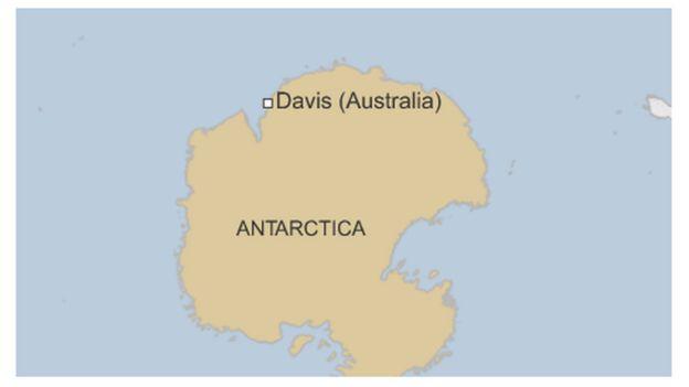 Map of Australia's Davis base on Antarctica