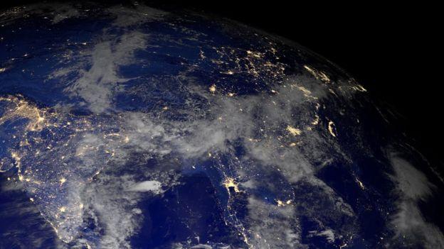 Asia vista desde el espacio.
