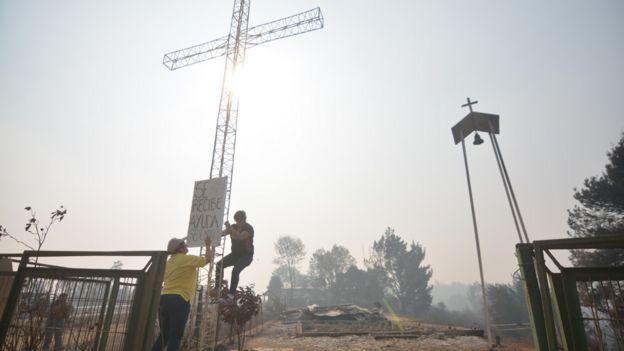 Casas quemadas en Chile