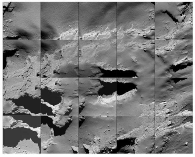 Imagens do cometa 67P