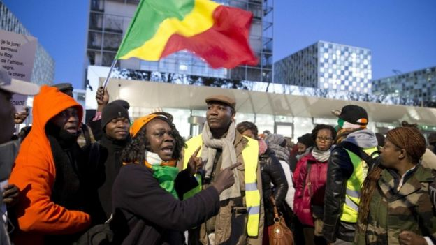 Gbagbo supporters at the ICC to back the former president, 28 Jan