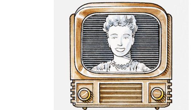 Dibujo de tele antigua