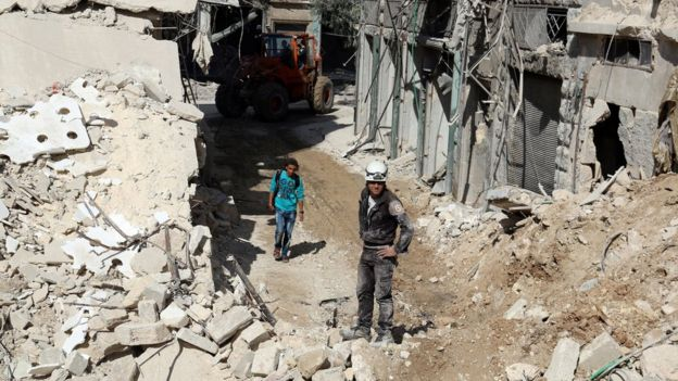 Halep'teki yıkım