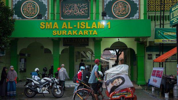 Escuela islámica en Solo.