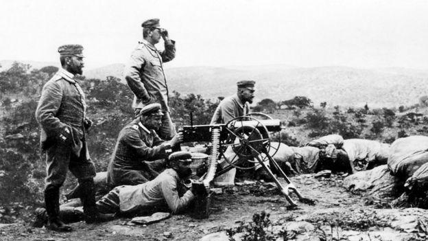 Soldados alemães na Namíbia