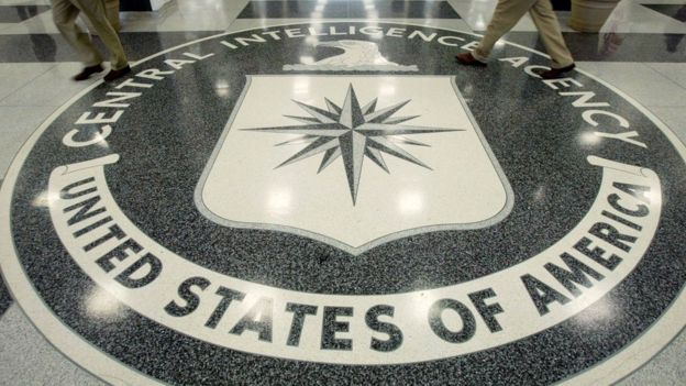 Piso con la leyenda de la CIA.