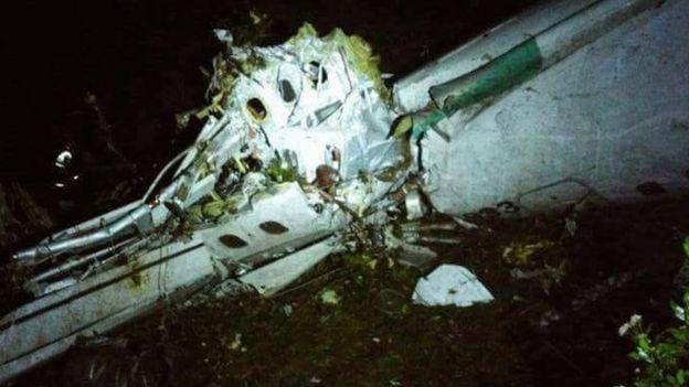 Destroços do avião