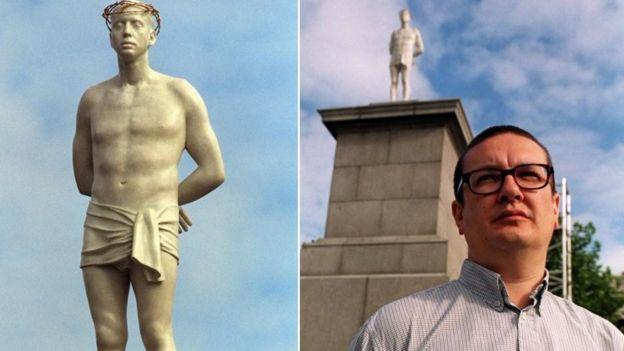 Скульптура Ecce Homo и художник