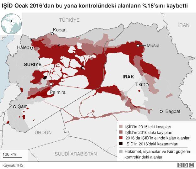 IŞİD harita