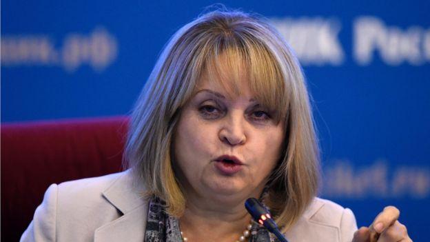 Head of Russia's Central Election Commission, Ella Pamfilova
