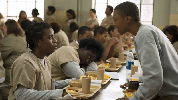 Uzo Aduba and Samira Wiley in Orange is the New Black