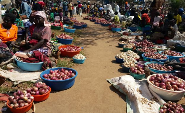 Market in Okavu, north-western Uganda 18 August 2016