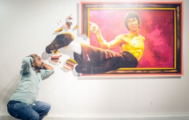 La patada de Bruce Lee