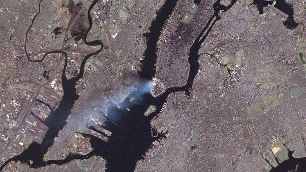 Imagen de Nueva York fue tomada desde el satélite Landsat