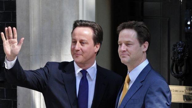 David Cameron and Nick Clegg 2010