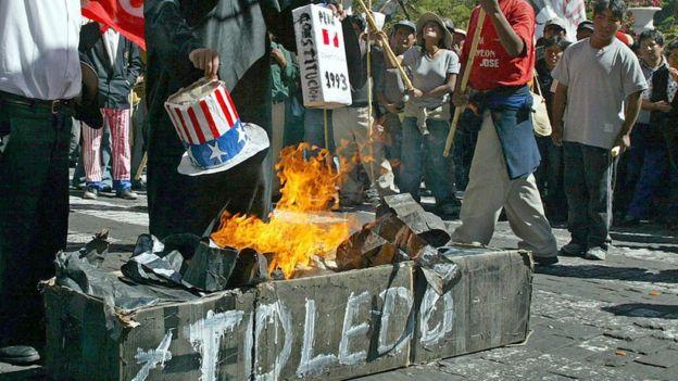 Manifestantes en Arequipa