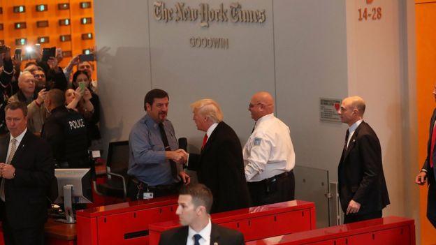 دونالد ترامپ که رابطه تندی با رسانههای آمریکا داشته، روز گذشته به نیویورک تایمز رفت