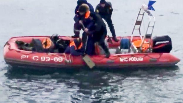 Operativos de rescate en el Mar Negro
