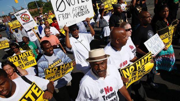 Protesta en Detroit