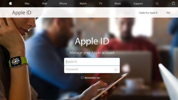 Spoof Apple website