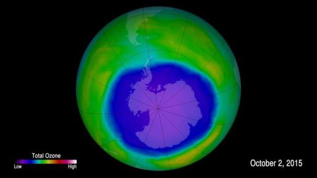 La capa de ozono se está recuperando y volviéndose más gruesa.