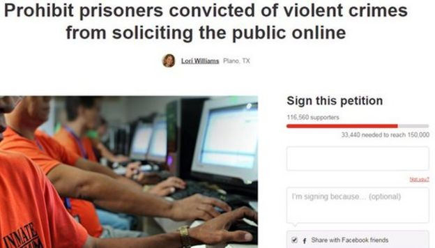An online petition