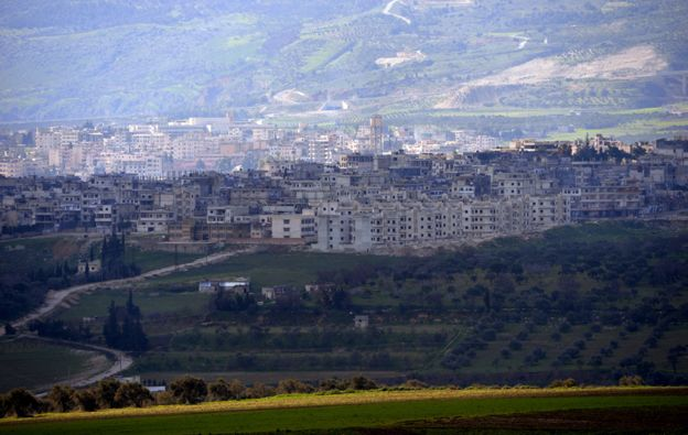 A general view shows the Syrian city of Jisr al-Shughur under the control of pro-regime troops, 2013
