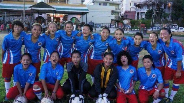 The Women's Soccer team