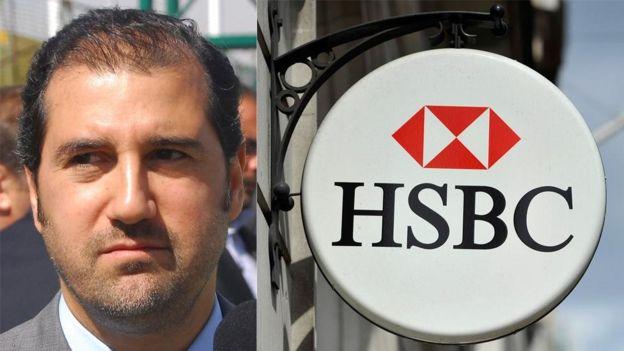 Rami Makhlouf and HSBC sign