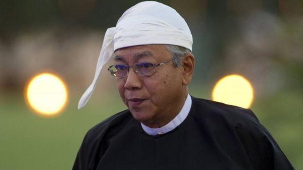 Burmese President Htin Kyaw