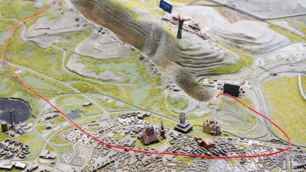 Maqueta de Kiruna