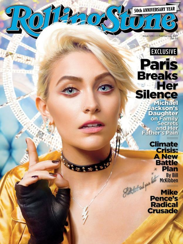 Paris Jackson on the cover of Rolling Stone