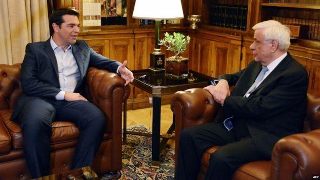 Alexis Tsipras submits his resignation to President Prokopis Pavlopoulos, 20 Aug