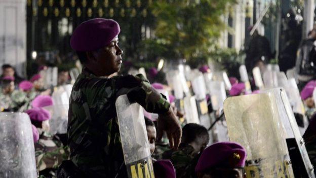 Pengamanan pada aksi unjuk rasa 4 November 2016 di Jakarta