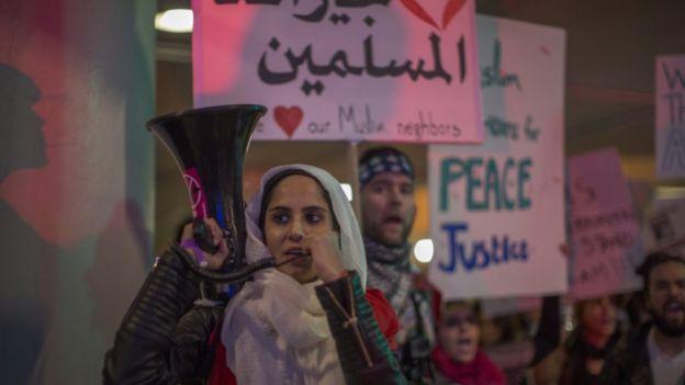 مظاهرة في لوس أنغليس