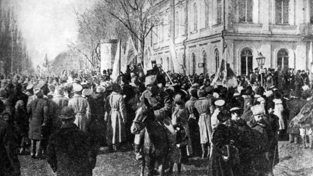 Мітинг на вулицях Києва з нагоди проголошення Української Народної Республіки. 7 листопада 1917 р.